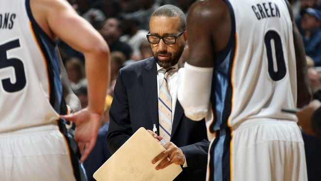 """""""As long as I see that we're getting in the gym early, staying connected, staying positive and getting shots up then I'm encouraged,"""" Memphis Grizzlies head coach David Fizdale says."""