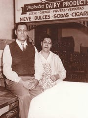Jose Felix Silva, at left, founder of store that became Silva's Supermarket.