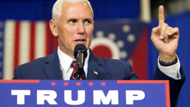 Gov. Mike Pence, Republican vice presidential candidate, seems to be sticking with the Donald Trump campaign, despite calls for him to drop out due to Trump's comments about women.