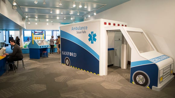 The recently installed exhibition themed around health science and wellness is shown at the Washington Pavilion on Thursday, May 3, 2018.