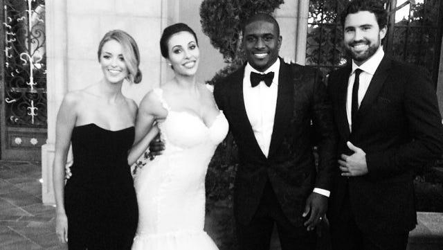 Brody Kenner attends Reggie Bush's wedding.