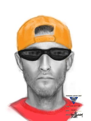 New Jersey State Police sketch of man wanted in connection with alleged Old Bridge luring incident.