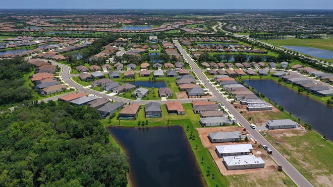 Manatee County Commissioners met on Tuesday during a workshop to discuss proposed development projects east of the county's urban boundary line. The biggest proposal comes from Lakewood Ranch developer Schroeder-Manatee Ranch. File photo is of homes located in the master-planned community.