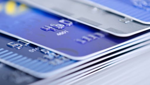 Closeup of credit cards