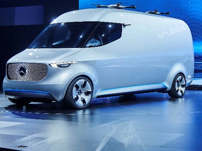 Mercedes benz vans unveils drone van concept for Mercedes benz work vans
