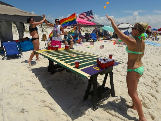 Park East on Pensacola Beach is a hotbed of activity as the LGBT community comes out to celebrate during Memorial Weekend.