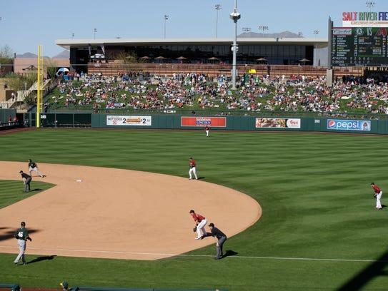 The Diamondbacks, with second baseman Brandon Drury