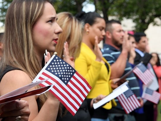 About 30 Bergen County residents became U.S. citizens