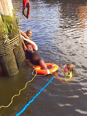 Salisbury police rescue a man who tried to commit suicide by jumping into the Wicomico River.