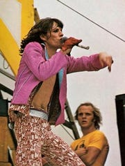 Mick Jagger of the Rolling Stones performs at Hughes