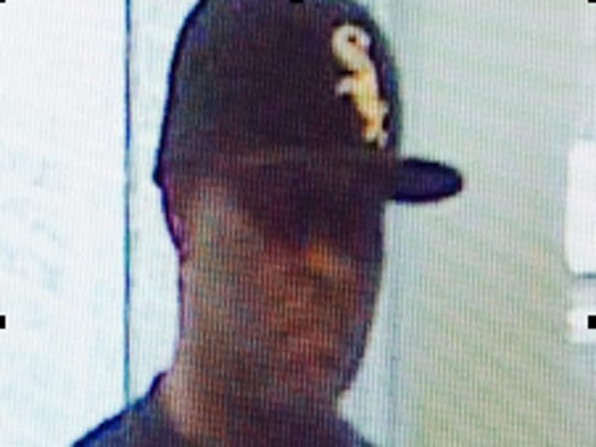 Police are looking for this man in the robbery of a Stratford bank Sunday.