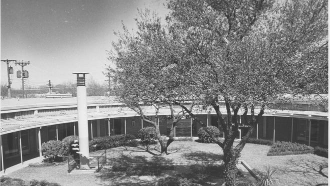 The interior courtyard of San Angelo's Medical Arts Building, 2102 Pecos St., as it appeared in 1978.
