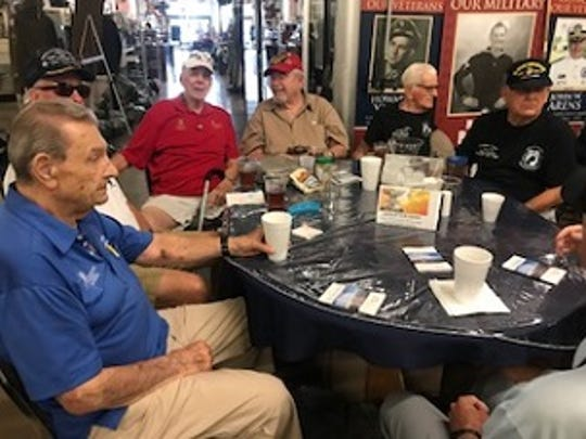 Local residents who served in the Korean War meet weekly at the Southwest Florida Military Museum in Cape Coral. Some of the men say their wartime efforts went largely ignored. Walter Dugan of Cape Coral is in the upper left hand corner.