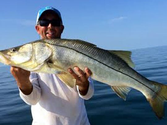 Anglers hoping for a keeper snook on Monday, Sept. 1 -- opening day of the fall season -- will have to scale down from Capt. Scott Theis's 40-incher, caught at the MAY Reef off Fort Myers Beach.
