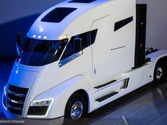 Nikola Motor's Nikola One hydrogen-electric truck.