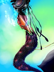 Heather Landry created a Robot Mermaid created by fractals.