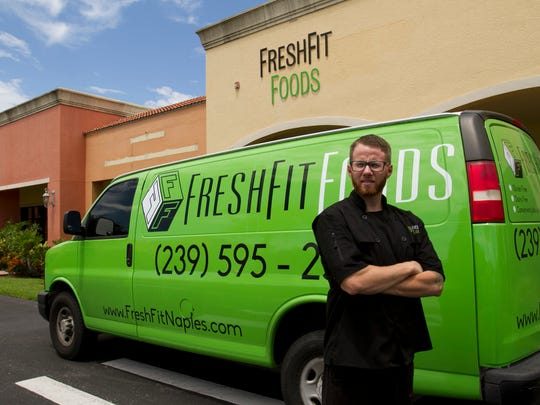 Executive Chef Adam Kimball of Fresh Fit Foods in Naples. 08-01-14.