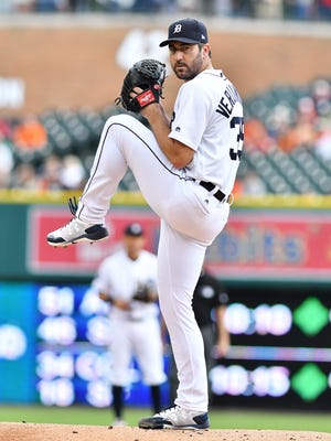 Tigers pitcher Justin Verlander is 5-7 this season with a 4.50 ERA.