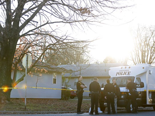 Springfield police on the scene of a homicide on East