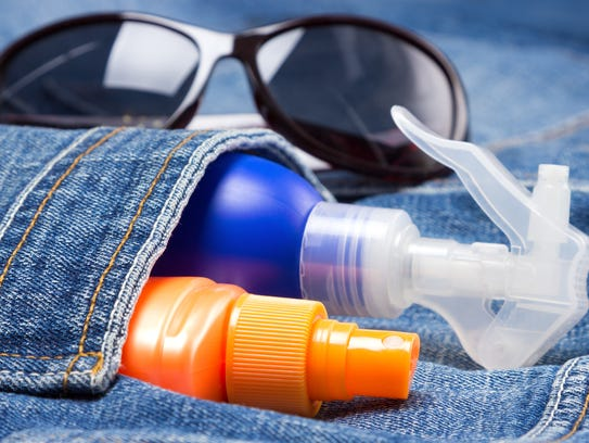 Sunscreen products and sunglasses are a must.