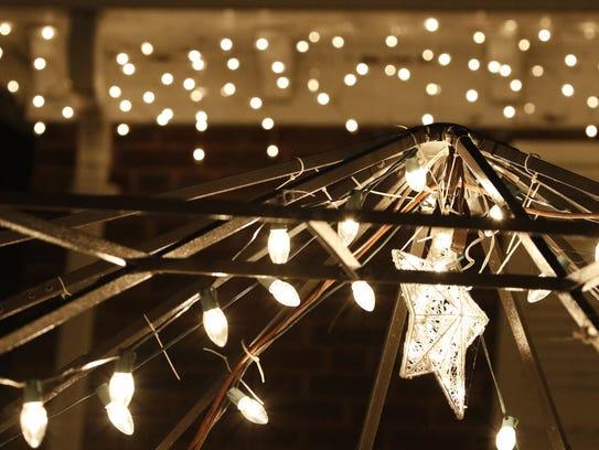 Christmas lights.