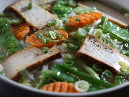 The PBL's Vegetarian Pho served at Pho Ba Luu.Feb.