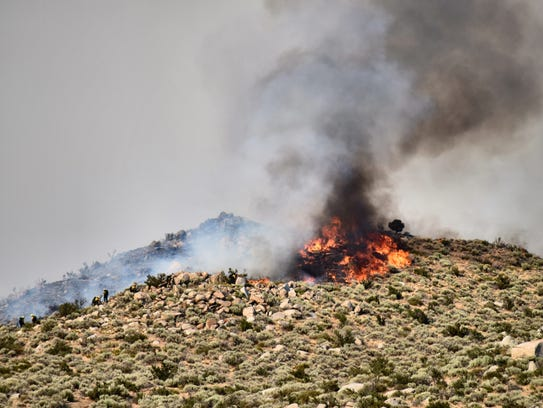 A view of the Brenda Fire.