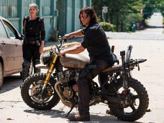 "Daryl Dixon (Norman Reedus) has been seen smoking on AMC's ""The Walking Dead."""