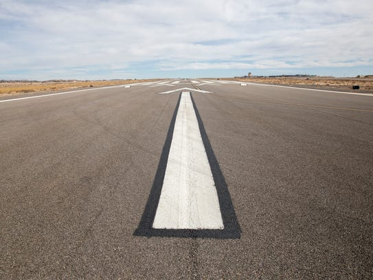 Runway 7/25 is pictured on Thursday at the Four Corners Regional Airport in Farmington.