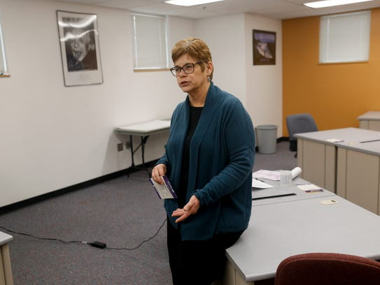 Judy Castleberry, director of the Small Business Development Center at San Juan College, speaks during an interview about Studio G on Thursday in the San Juan College Quality Center for Business in Farmington.