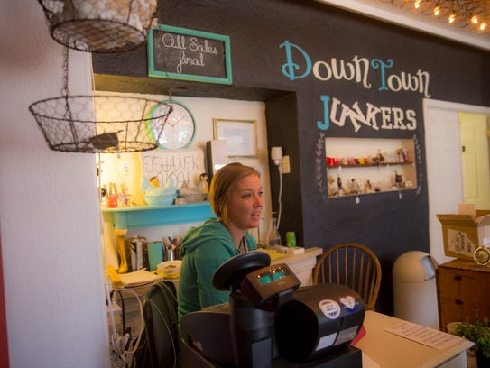 Downtown Junkers owner Sarah Herrera says she's looking forward to her shop's move to a spot on Main Street and believes a planned downtown revitalization project could make a big difference for the district.
