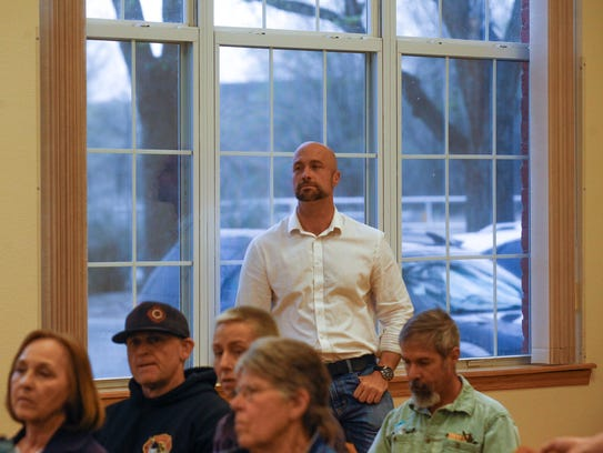 New Mexico State Auditor candidate Bill McCamley attends a San Juan County Democratic Party meeting Thursday at the Little Red School House in LaPlata.