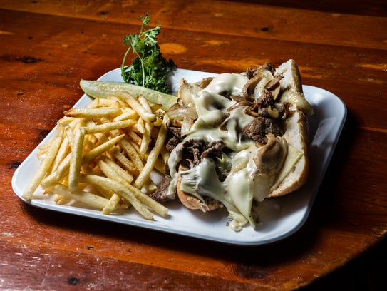 Buckett's offers five types of Philly cheesesteaks