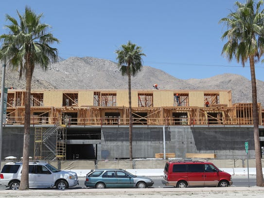 The Andaz Hotel is under construction in downtown Palm