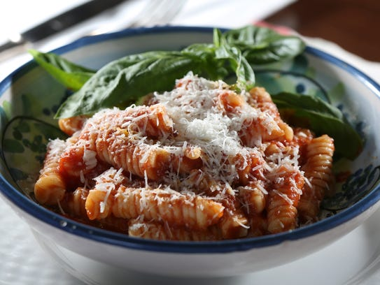 The Tortiglioni with Ragu Napolitano served by At The