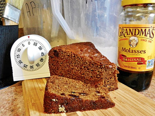 The Happy Baker's molasses brown bread.
