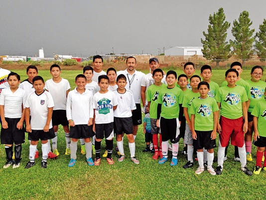 U13 soccer teams from Columbus (lime jerseys) and Deming played a goodwill match last weekend to encourage children to participate in the falll season of the Deming Soccer League. Columbus won the weekend friendly match 8-2. Registration is currently underway for children of all ages.