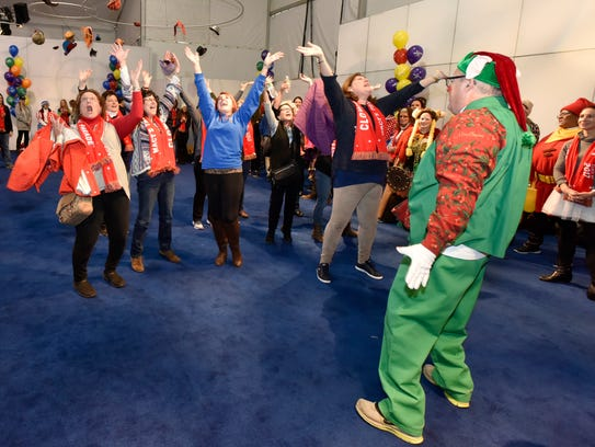 Volunteer clowns, most of them Macy's employees and their families and friends, learn what it takes to be a clown.