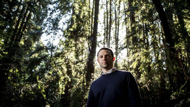 Litterati founder Jeff Kirschner on a wilderness trail in his Oakland neighborhood.