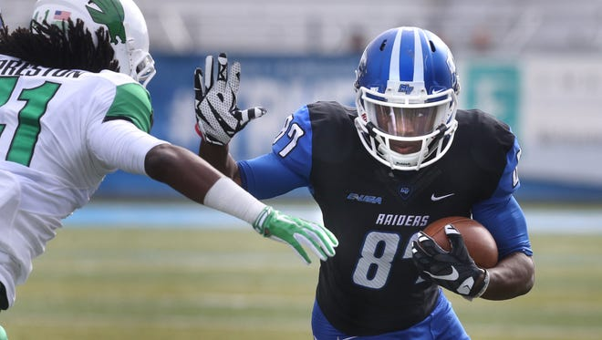 MTSU wide receiver Richie James (87) has played a big role in the Blue Raiders' success this year.