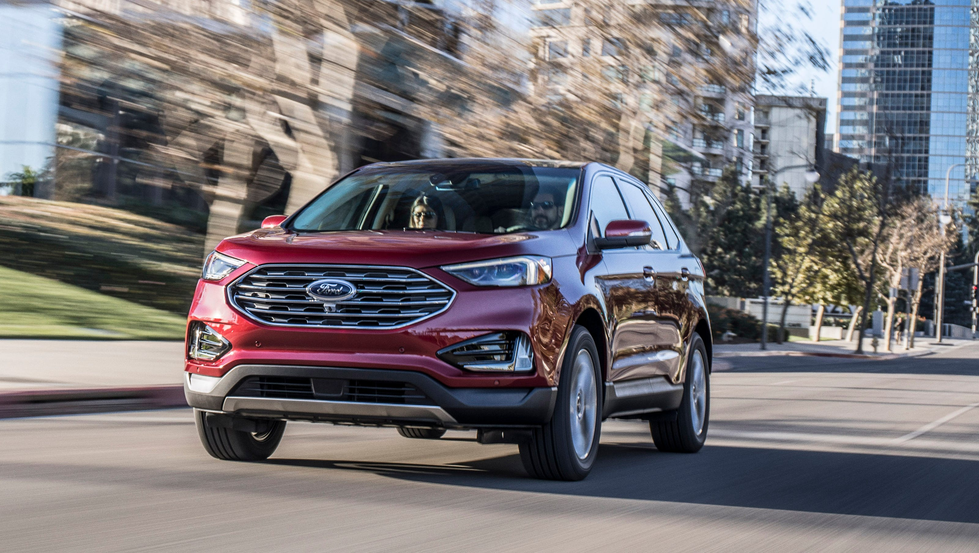 Detroit Auto Show  Ford Edge Suv Gets New Look Technology