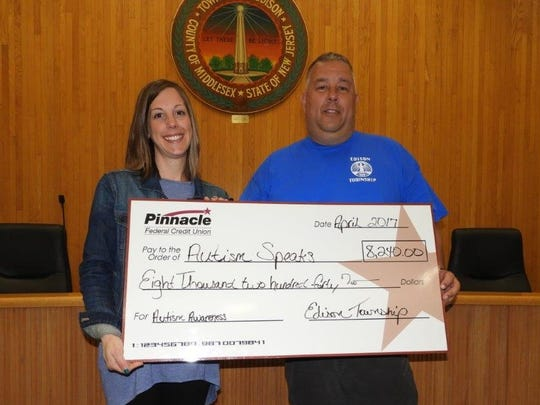 Edison employees raised $8,420 for Autism Speaks-New Jersey during April.
