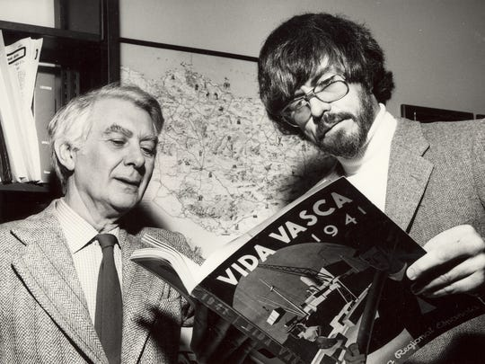 Jon Bilbao, left, and Bill Douglass founded the Center for Basque Studies at the University of Nevada, Reno.