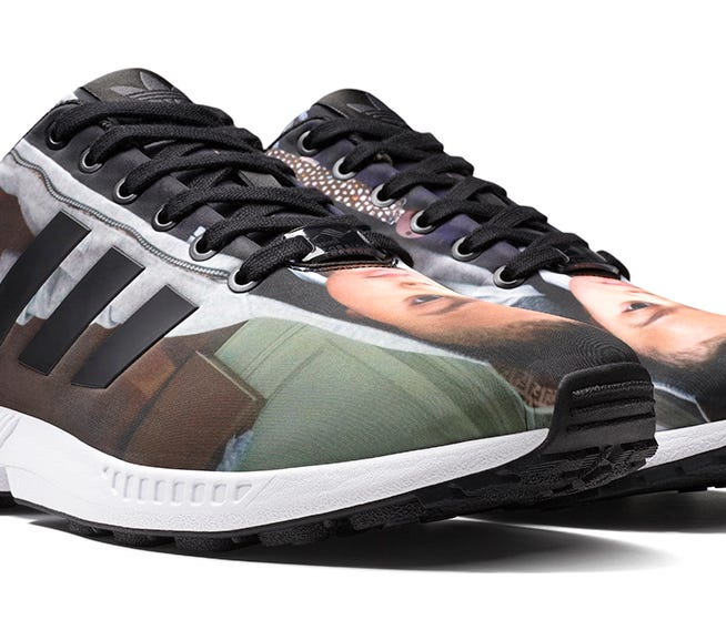 adidas mi zx flux app customizes sneakers with printed