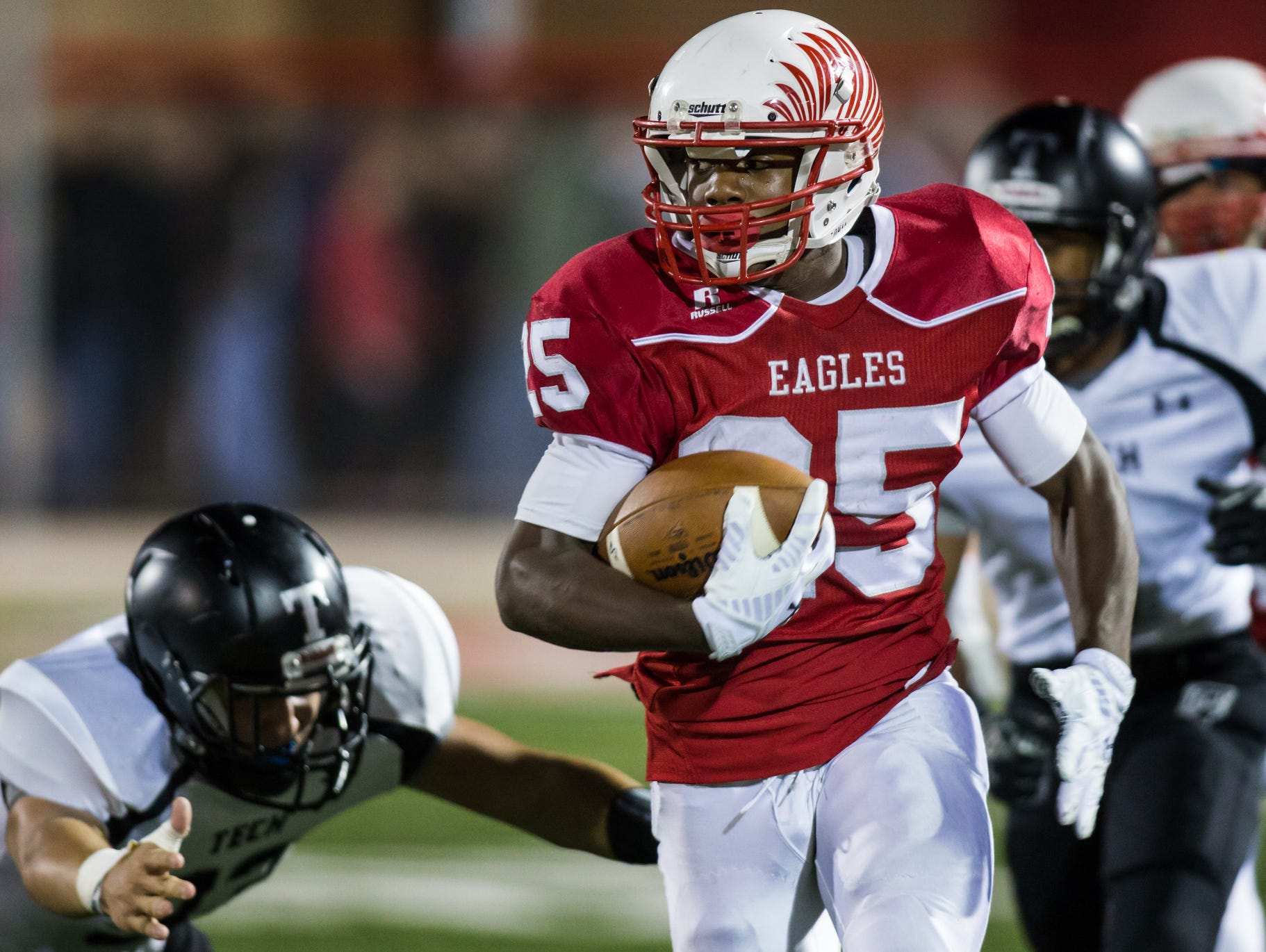 Smyrna running back William Knight, All-State as a sophomore last season, will be one of the keys for the Eagles against Salesianum on Friday.