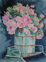 Terri Hazeleur not only paints but runs an antique store with her husband, Rich.
