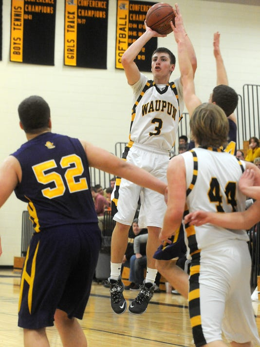 Waupun Warriors hosts Two Rivers boys basketball 2014