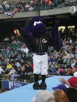 Buddy the Bat entertains the crowd.