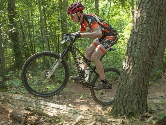 George Sokorai of Wenonah rides his mountain bikes