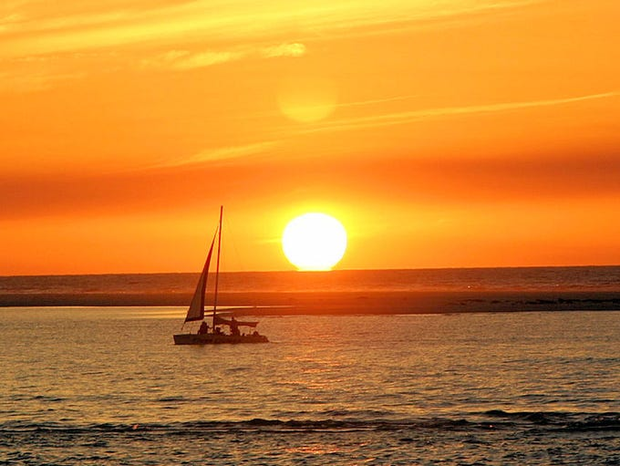 "Dr. Joseph Russ of Naples writes: ""Sailing into the"